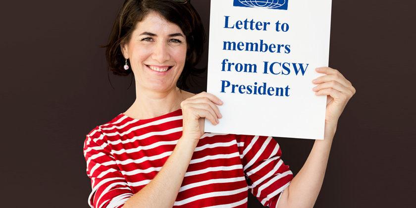 Brev från ICSW Internationals President